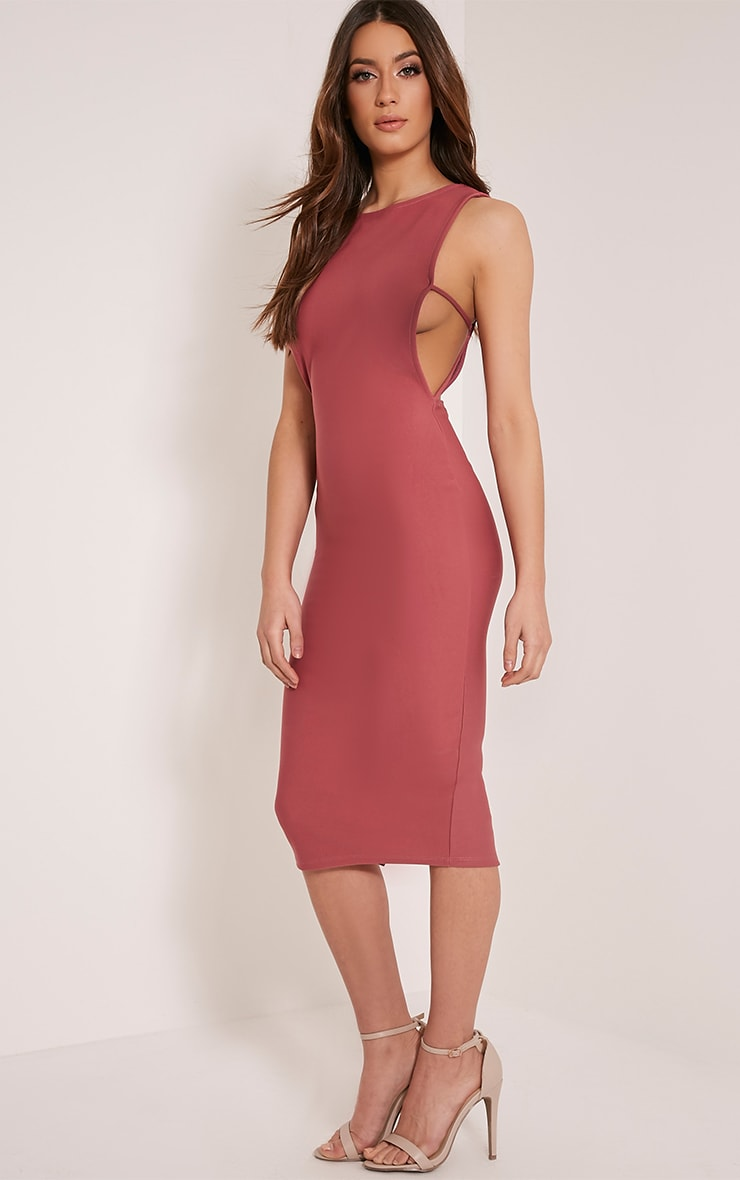 Rima Rose Strappy Cut Out Midi Dress 4