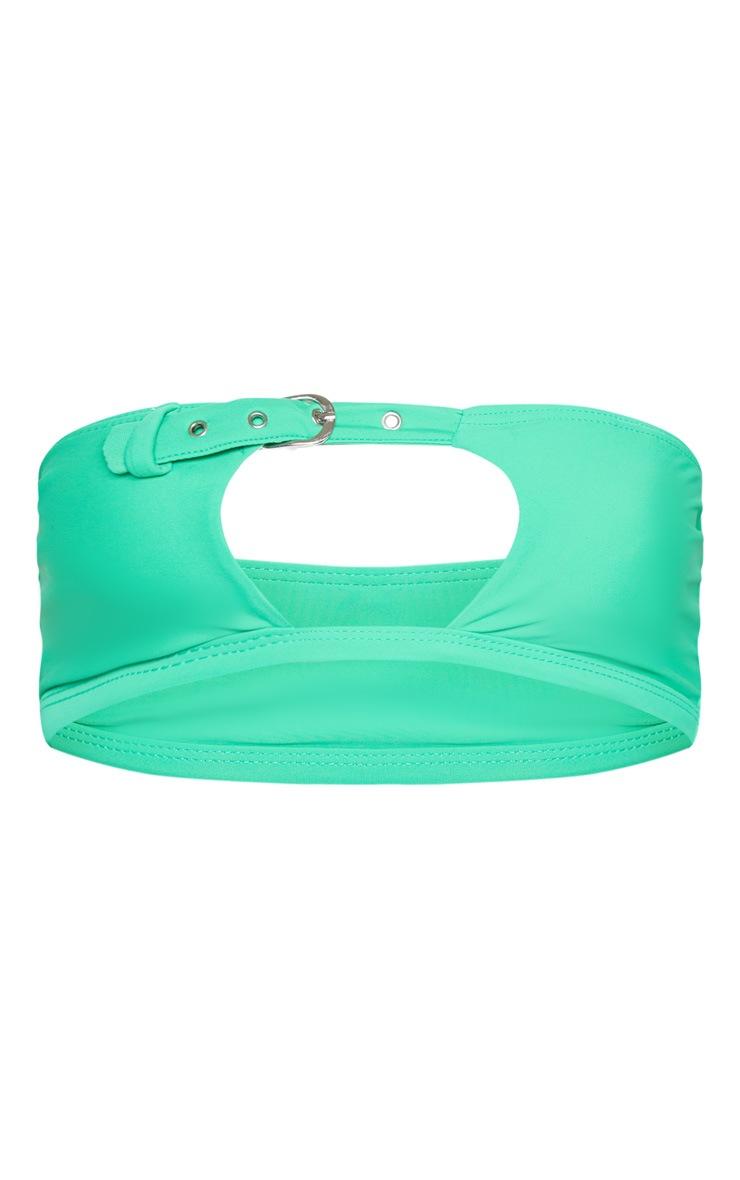 Green Belted Bandeau Bikini Top 3
