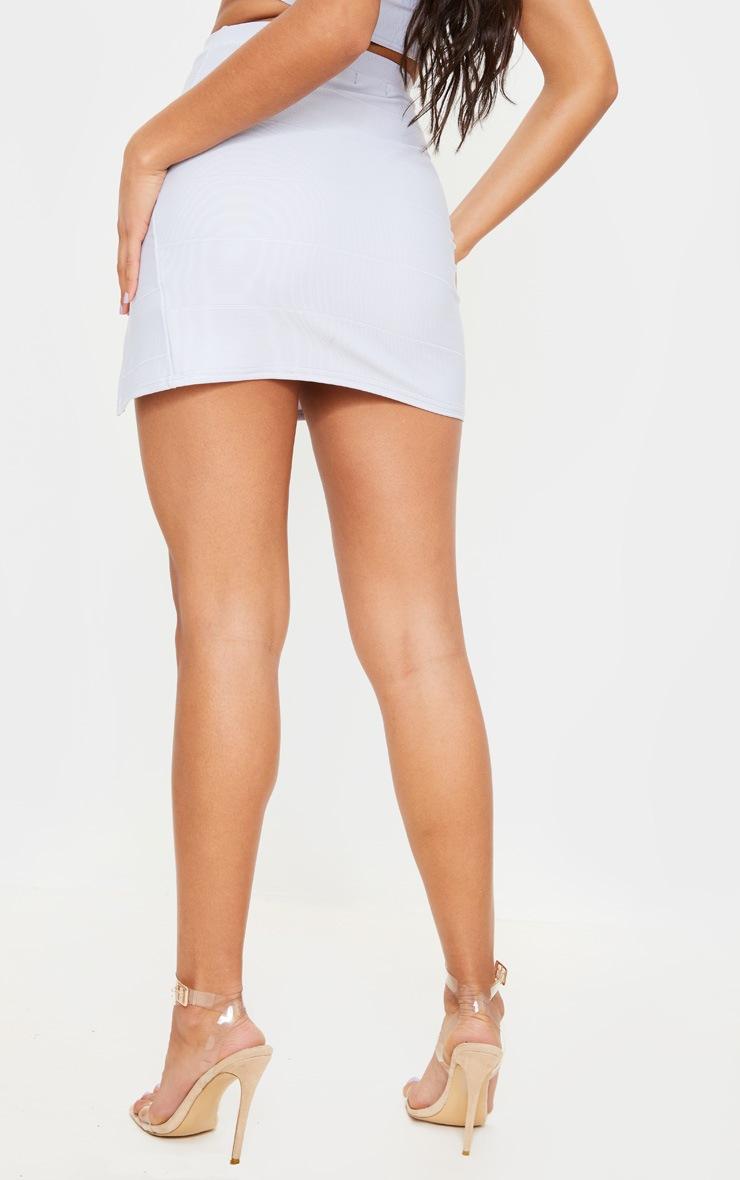 Baby Blue Bandage Split Mini Skirt 4
