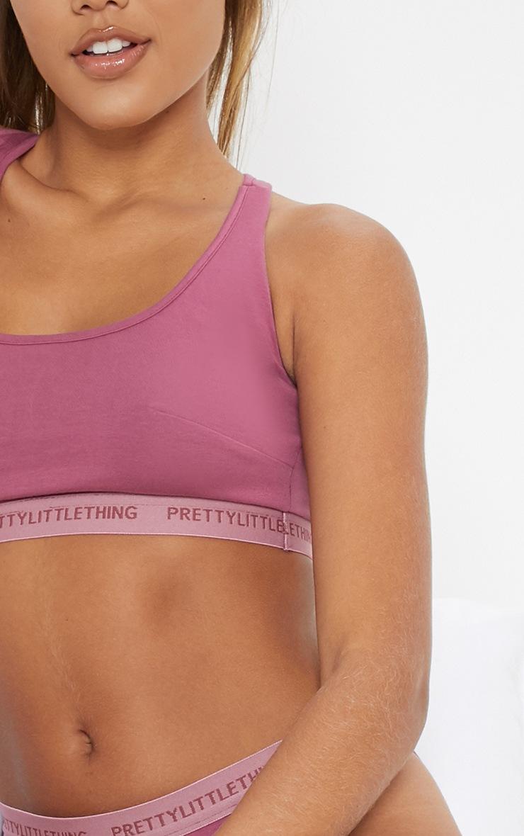 PRETTYLITTLETHING Purple Sports Bra 5