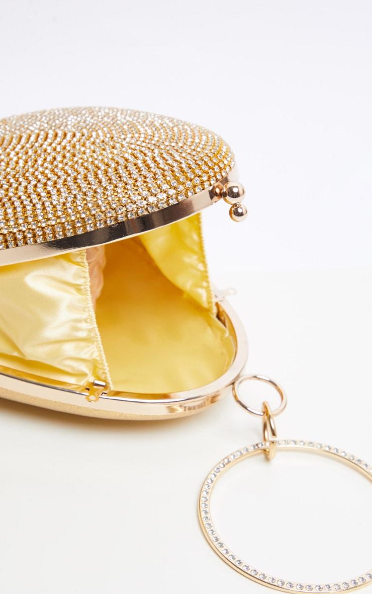 Gold Diamante Oval Bag 6