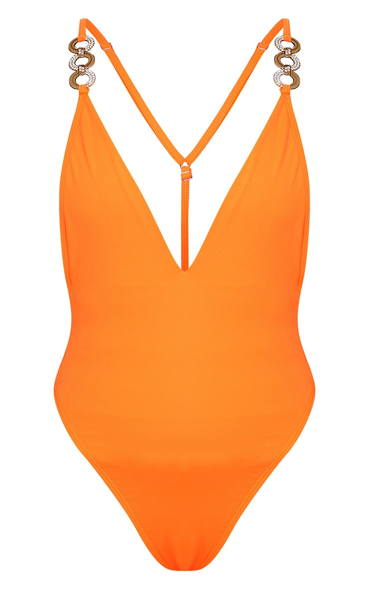 Orange Ring Detail Swimsuit 6