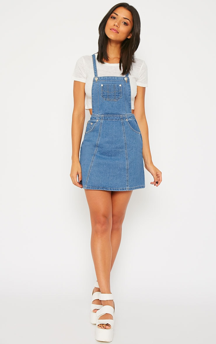 Alexa Denim Pinafore Dress 4