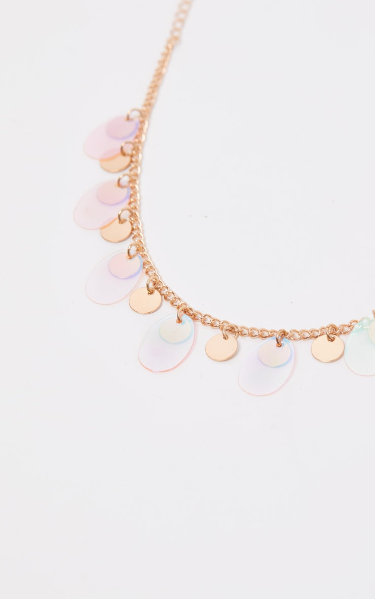 Gold Blue And Pink Disc Anklet 2