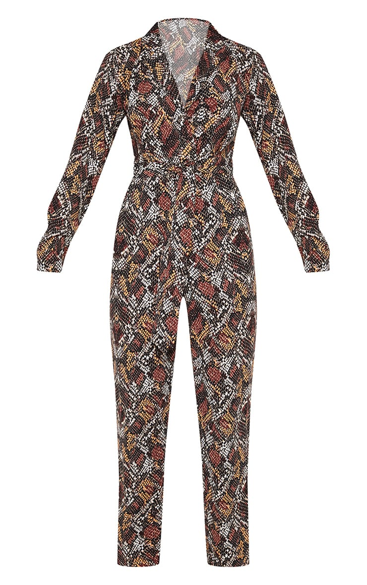 Chocolate Snake Print Jumpsuit 3