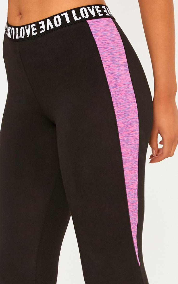 Pink Melange Gym Leggings 5
