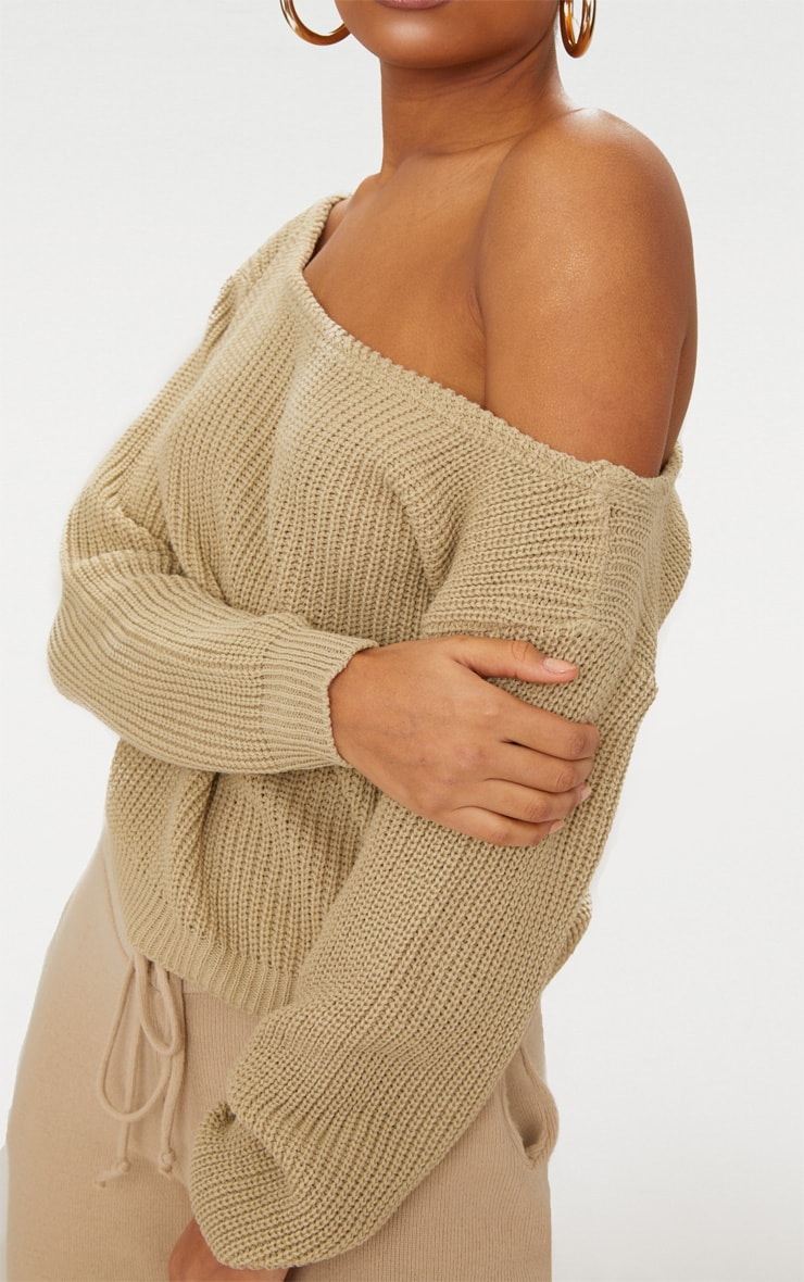 Stone Off The Shoulder Crop Jumper 5