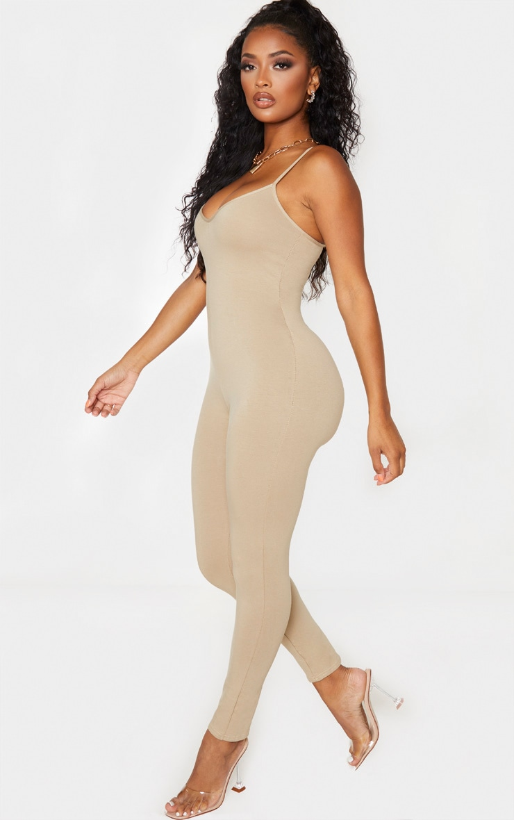 Shape Stone Cotton Strappy Jumpsuit 4