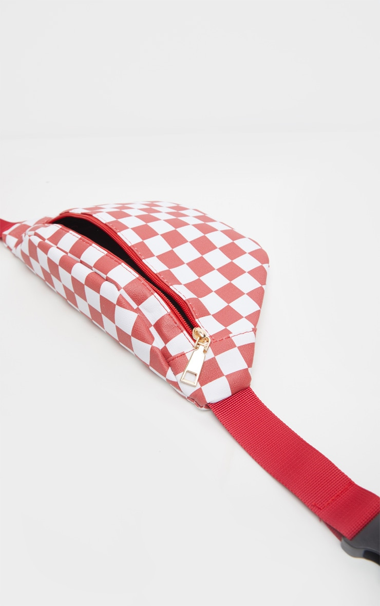 Red Checkerboard Bum Bag 3