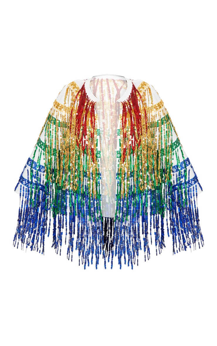 Plus Multi Sequin Fringed Jacket 3
