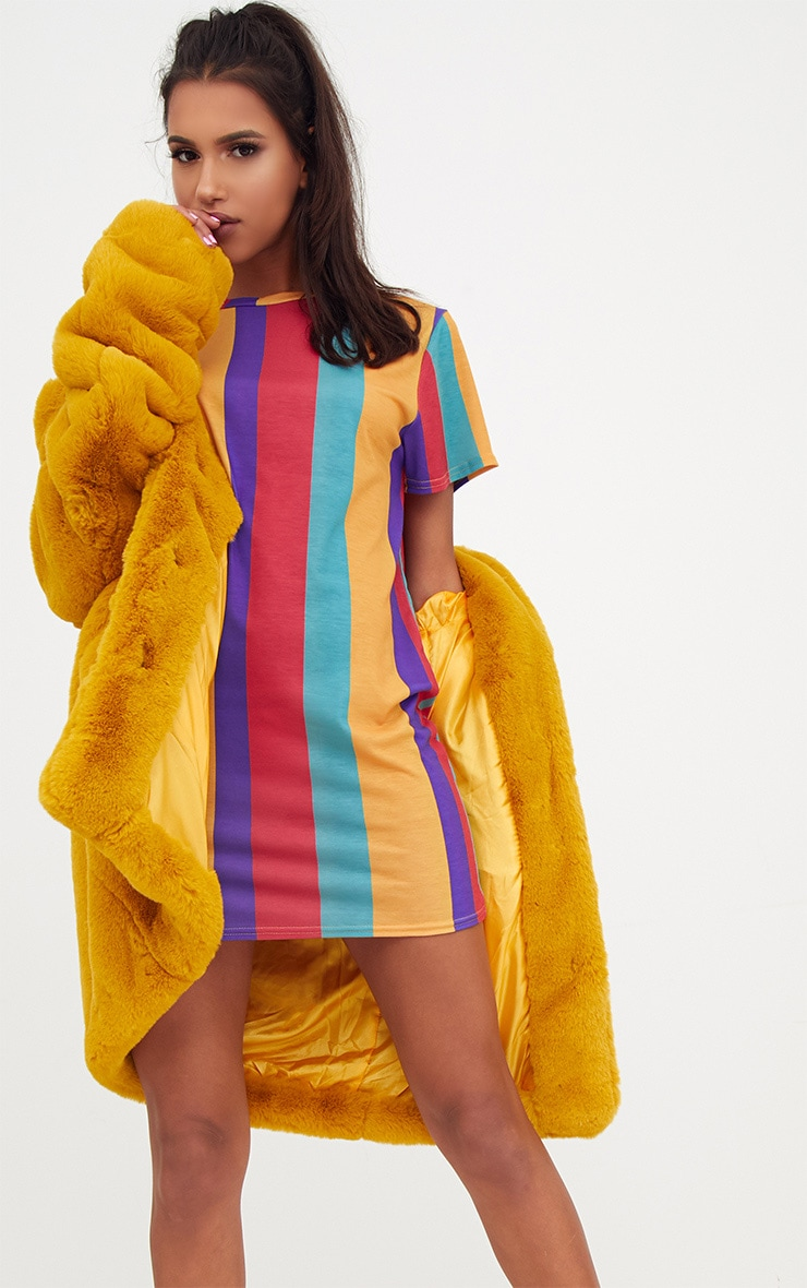 Multi Striped T Shirt Dress 4