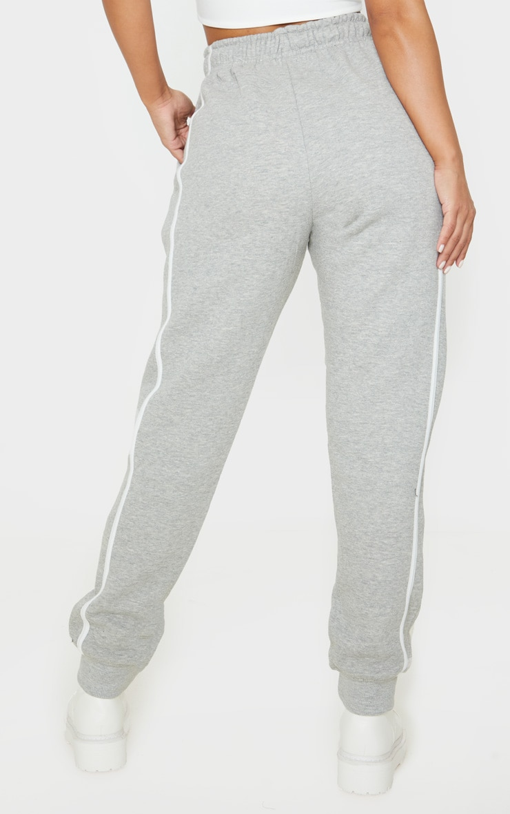Petite Grey Double Side Stripe Jogger 4