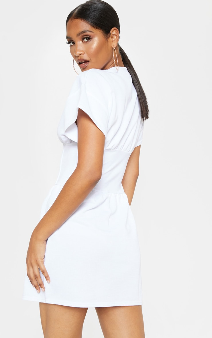White Corset Sweater Dress 2