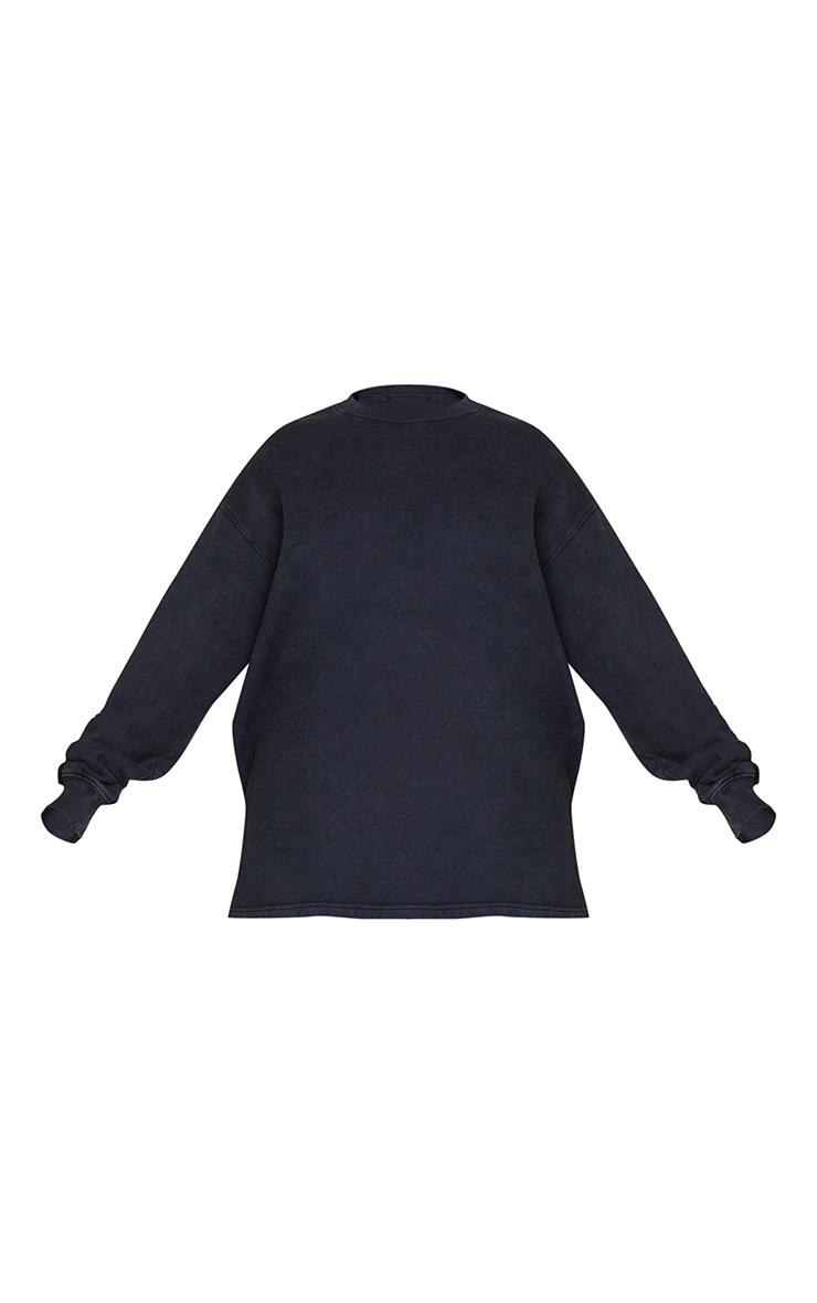Plus Black Washed Longline Sweater 5