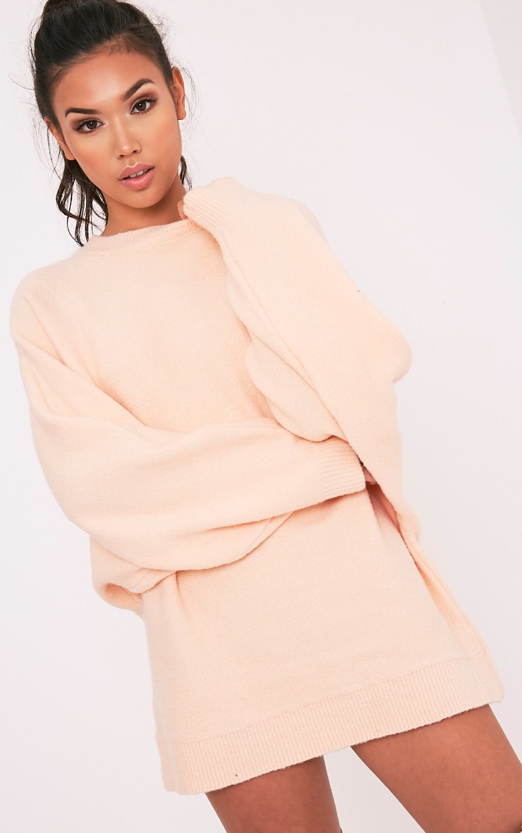 Raysa Nude Oversized Knitted Jumper 2