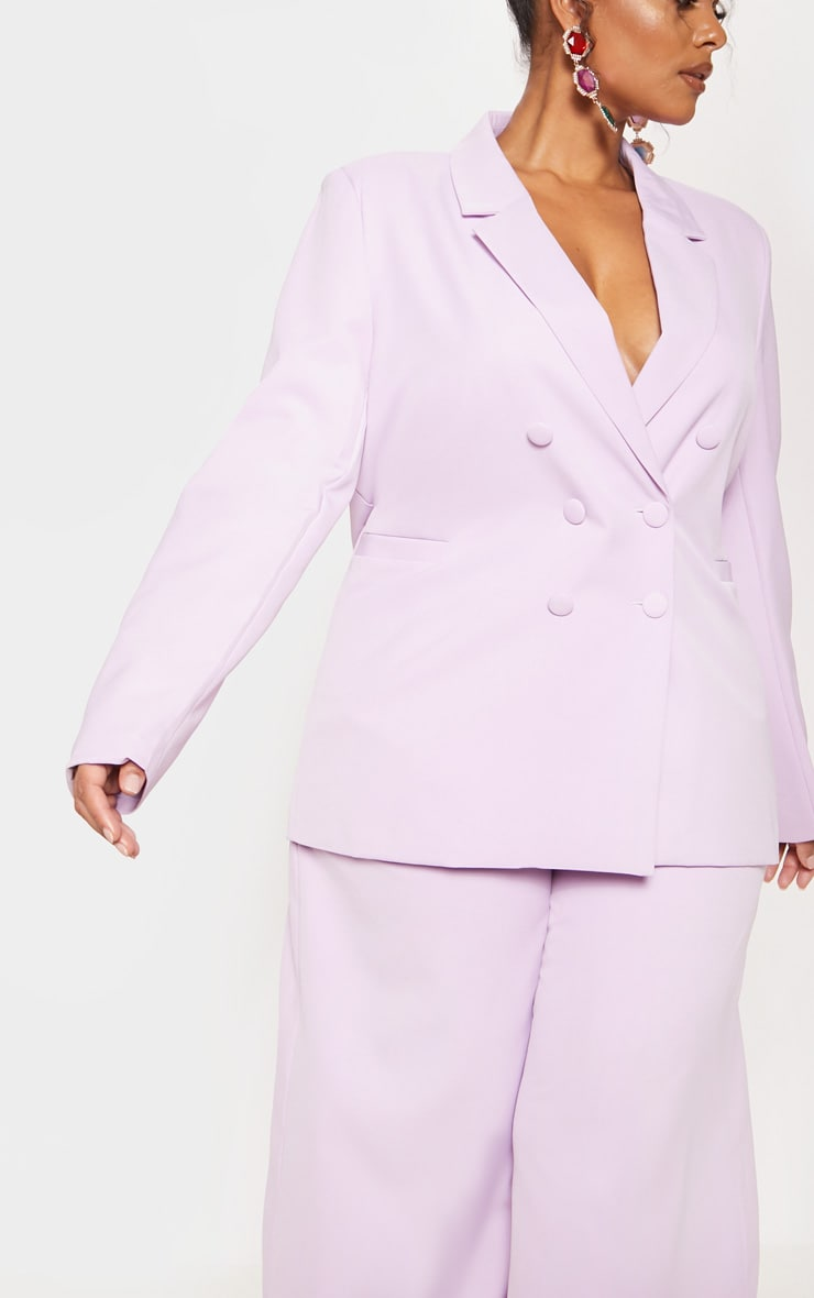 Lilac Oversized Woven Blazer 6