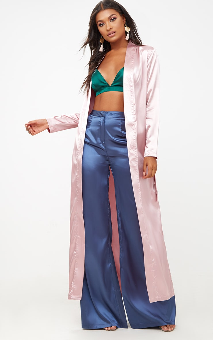 Pink Satin Duster 1