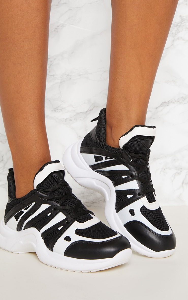 Black Arched Sole Chunky Sneakers 5