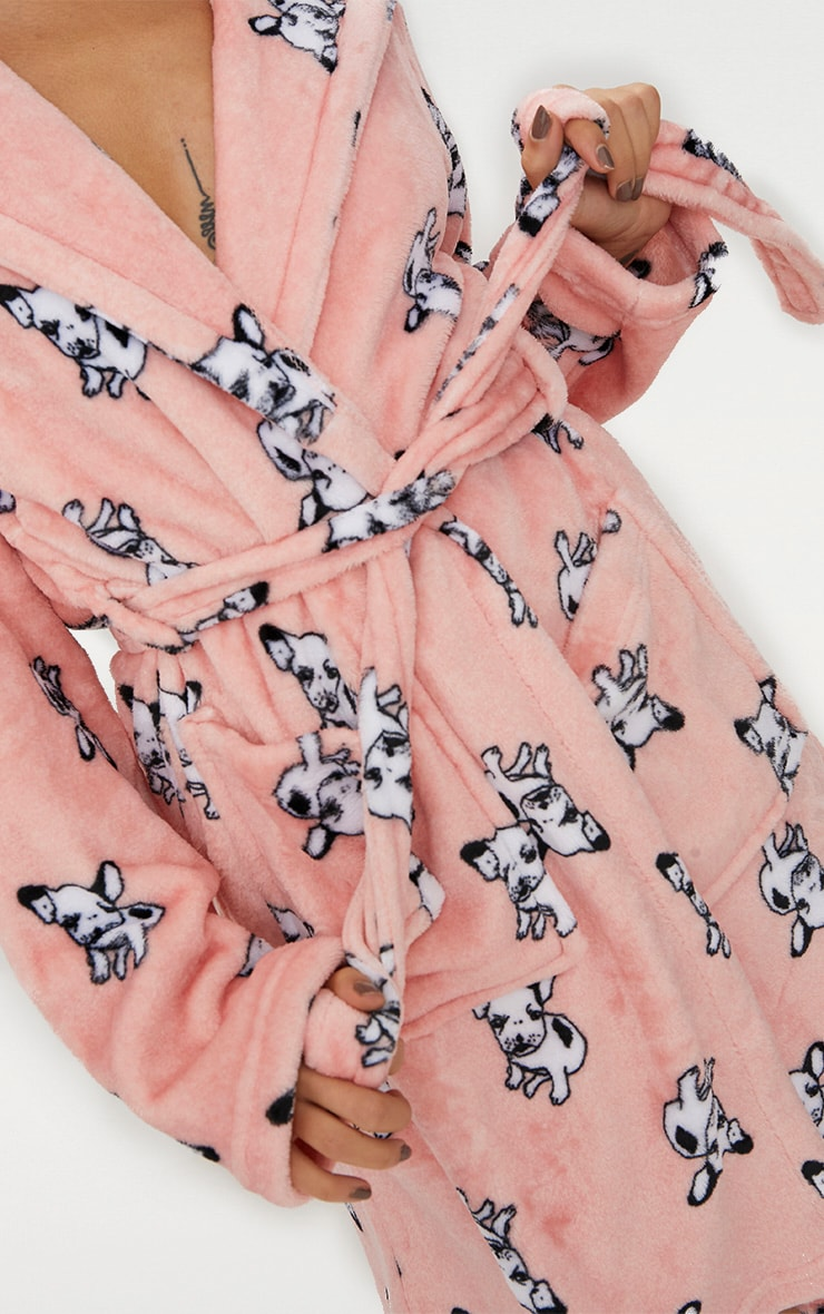 French Bulldog Printed Dressing Gown 5