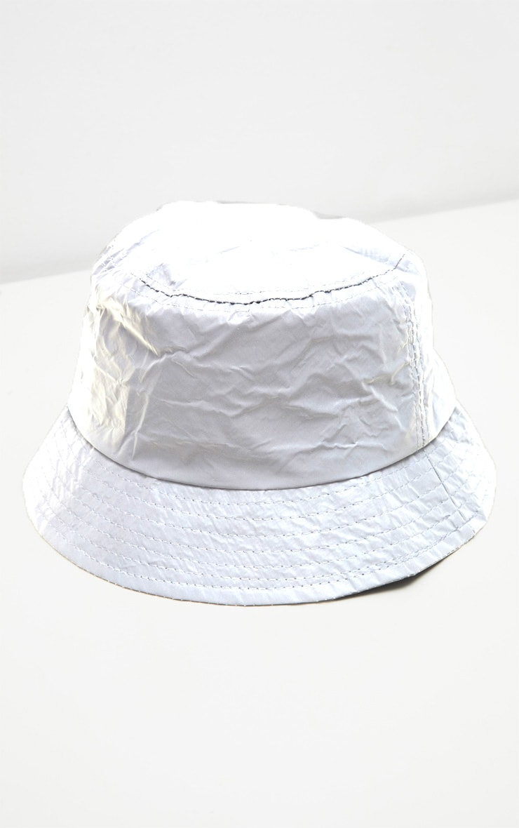 Grey Reflective Bucket Hat 2