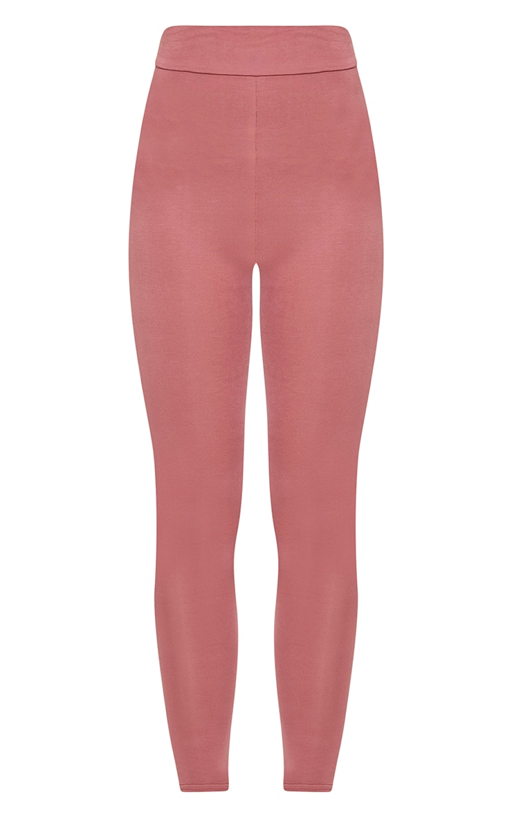 Basic Rose High Waisted Jersey Leggings 3