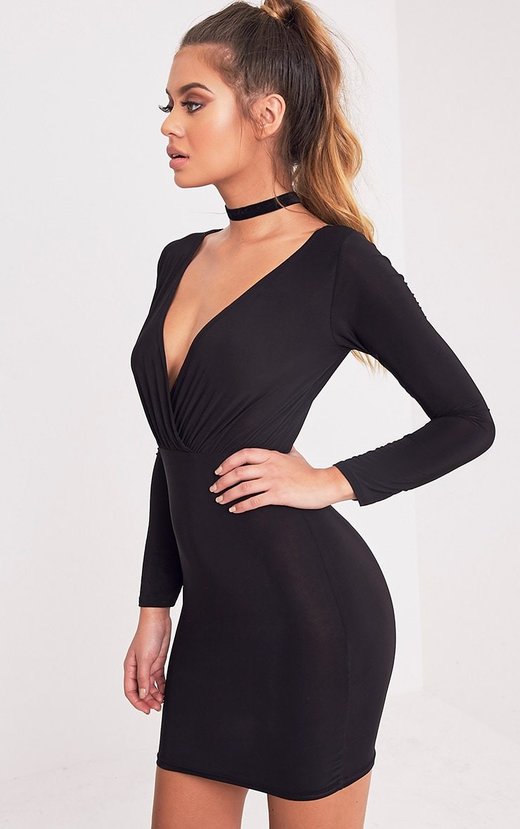 Brylie Black Cross Front Mini Dress 4