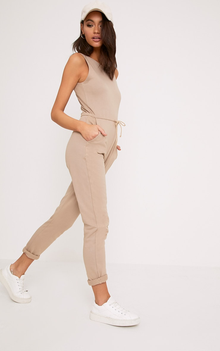 Sofie Nikki Taupe Sweat Jumpsuit  4