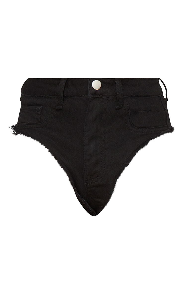 Black Denim Knicker 3