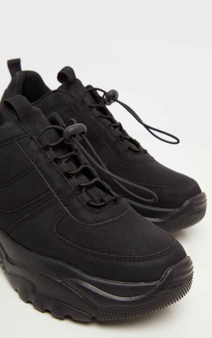 Black High Arch Chunky Sole Sneaker 3