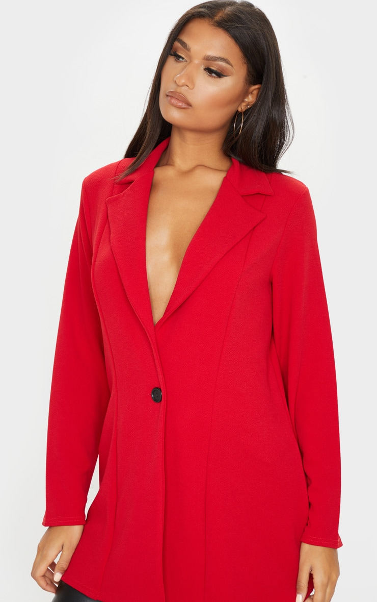 Red Oversized Boyfriend Blazer 5