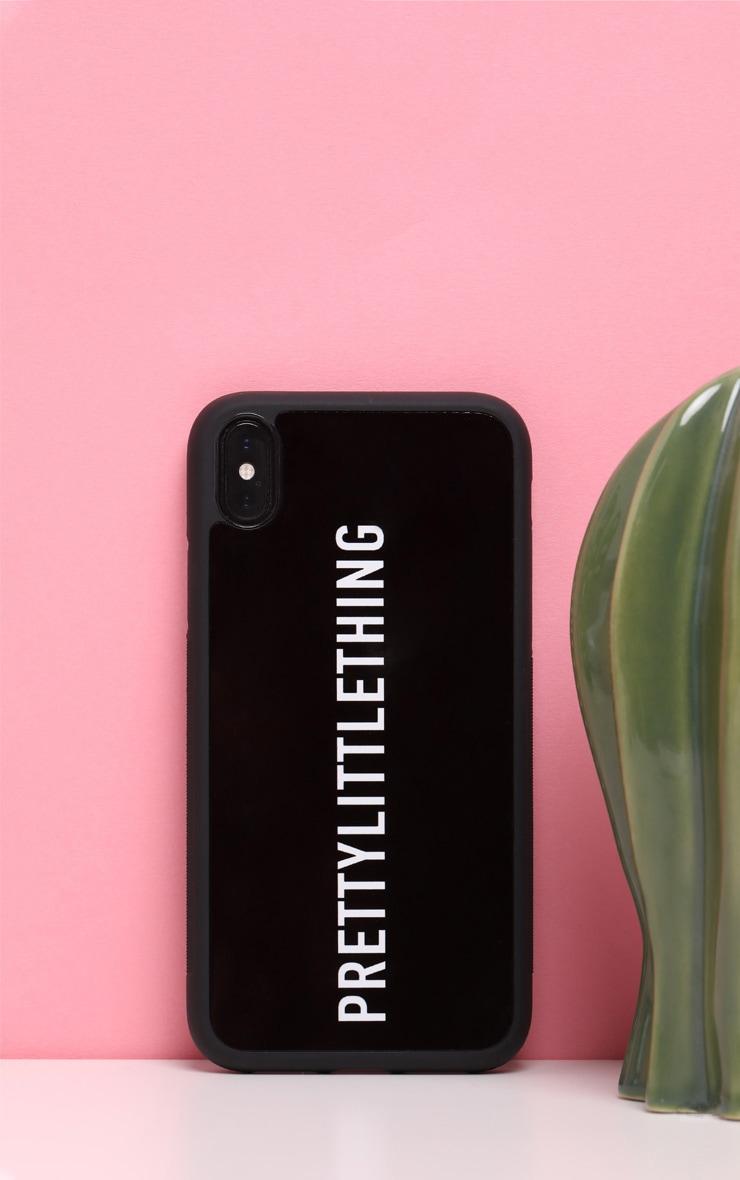 PRETTYLITTLETHING Black Logo XR iPhone Case 1