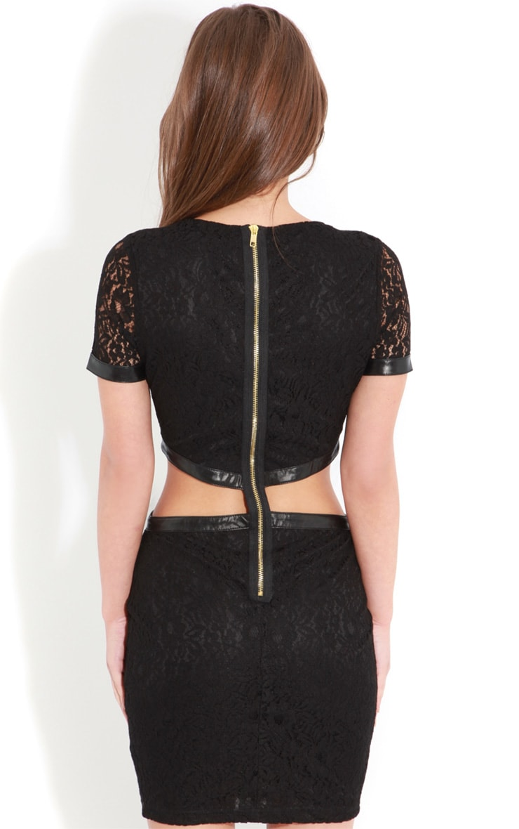 Dakota Black Lace Cut Out Dress 2