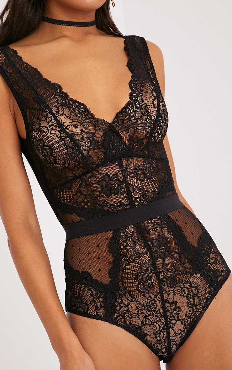Ezrie Black Lace Bodysuit 5