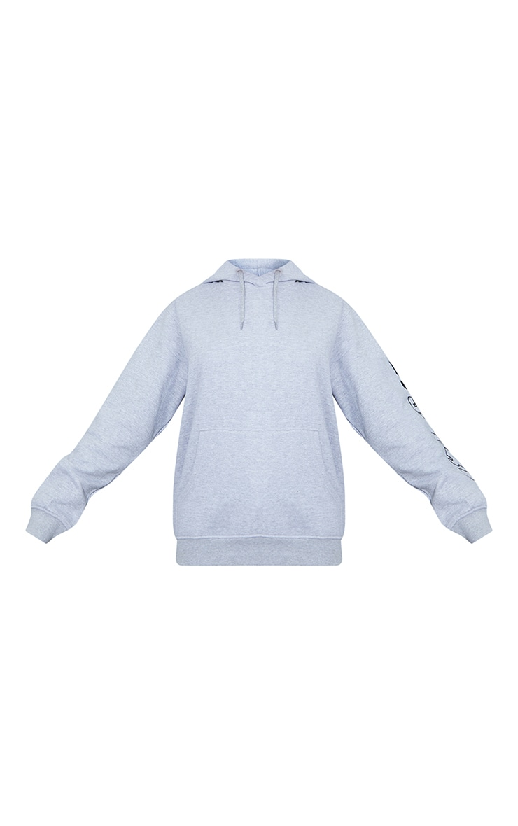 PRETTYLITTLETHING Grey Sport Oversized Hoodie 5