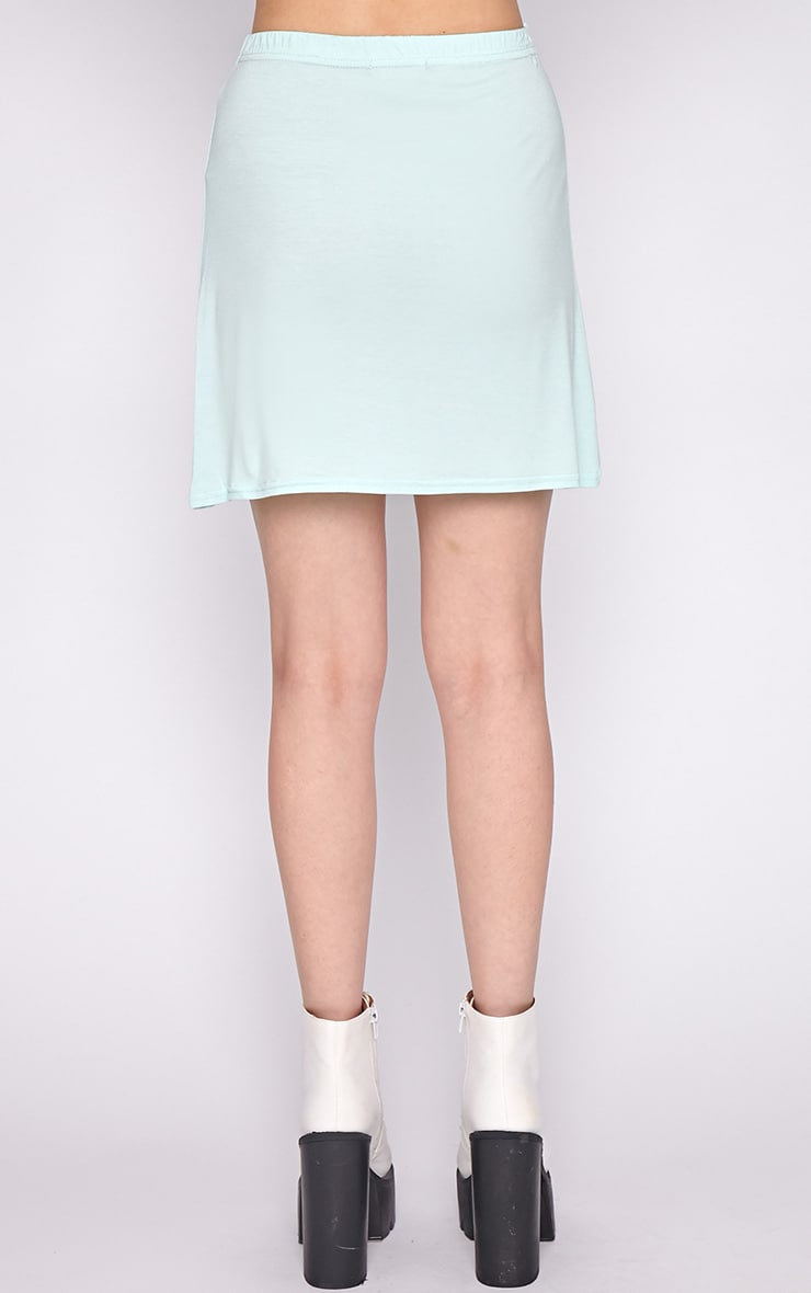Erika Mint A Line Mini Skirt  2