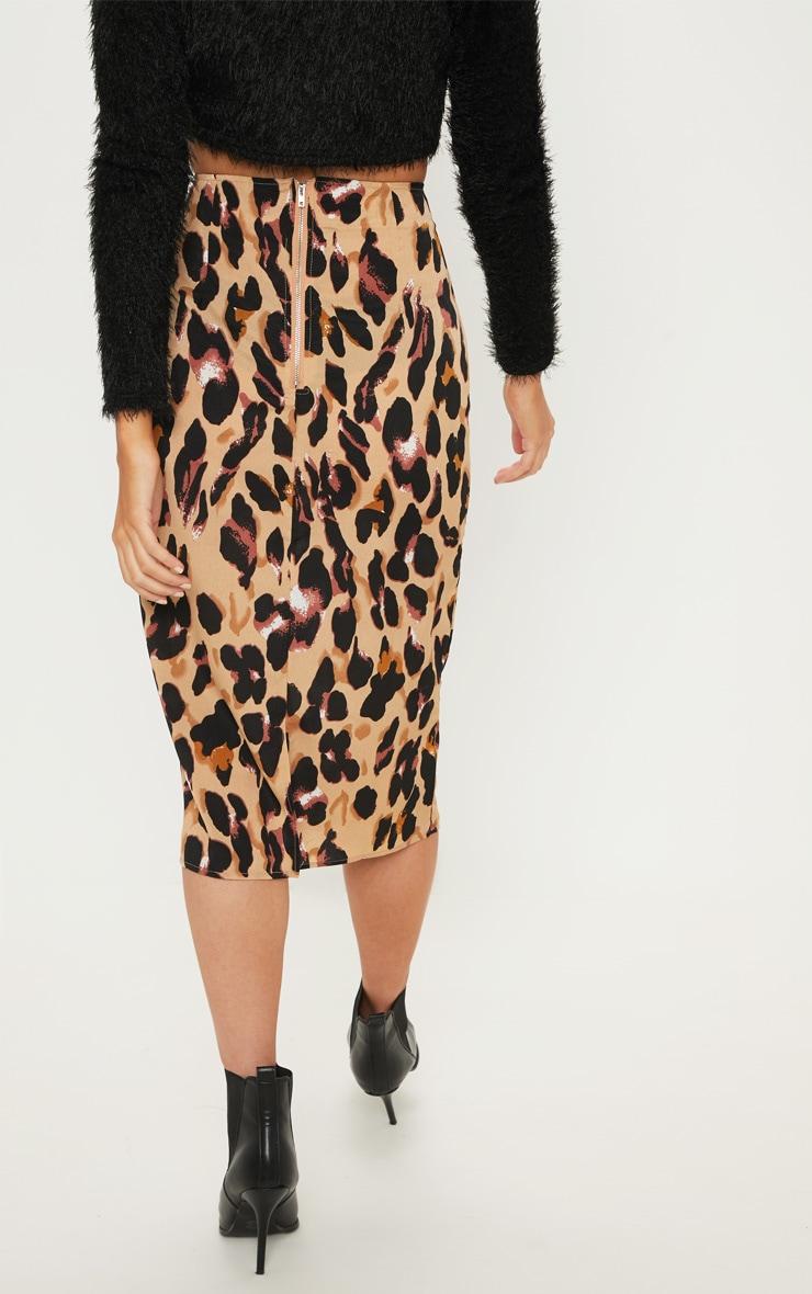 Jupe mi-longue à imprimé léopard 4