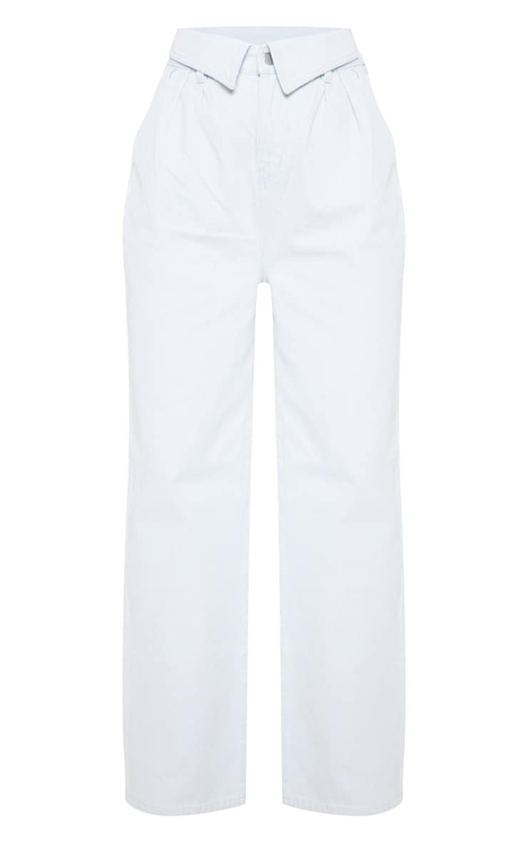 Bleach Wash Envelope Paperbag Baggy Jeans 3
