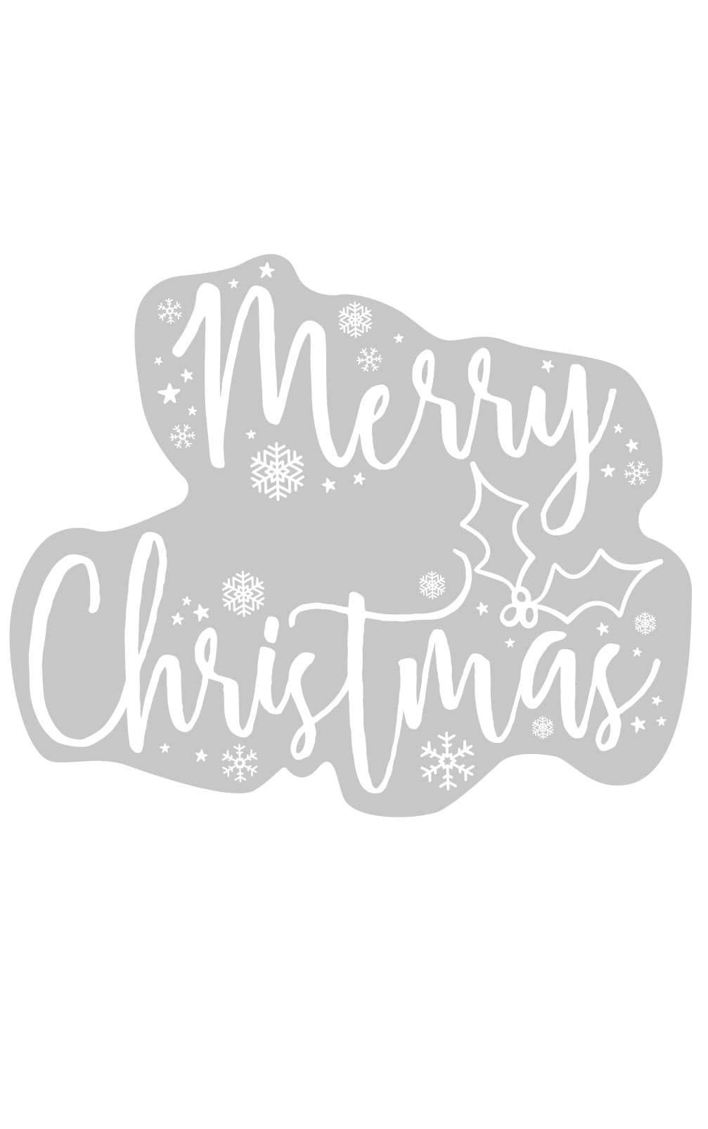 Ginger Ray Window Sticker Merry Christmas 2