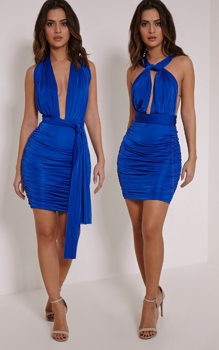 Katherine Cobalt Multiway Mini Dress 1