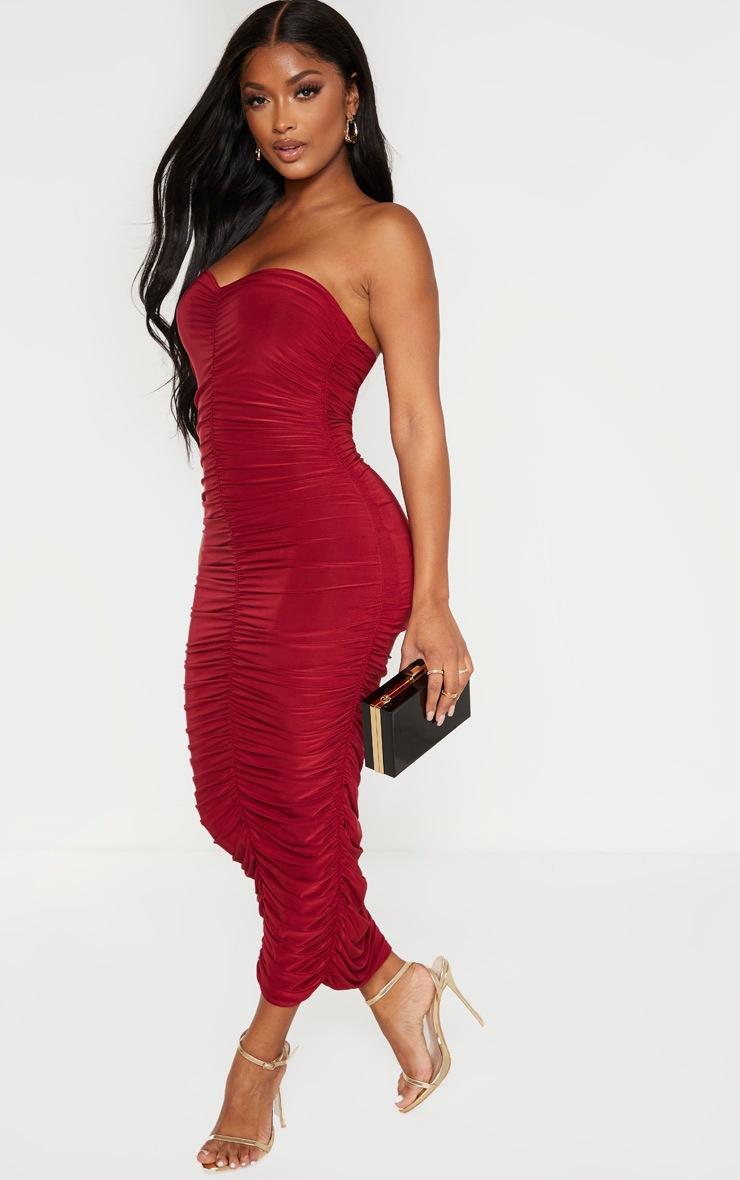 Shape Scarlet Bandeau Ruched Midaxi Dress 4