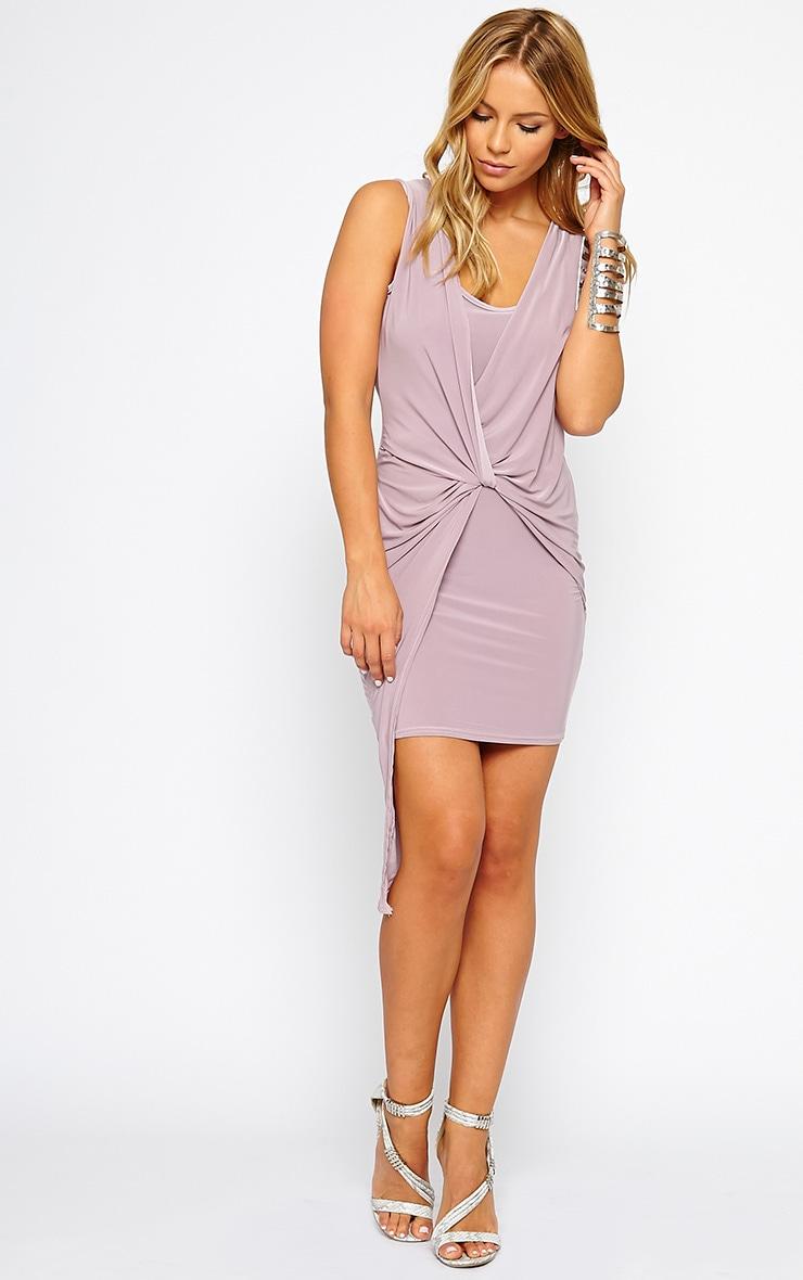 Stacie Mauve Knot Detail Dress 3