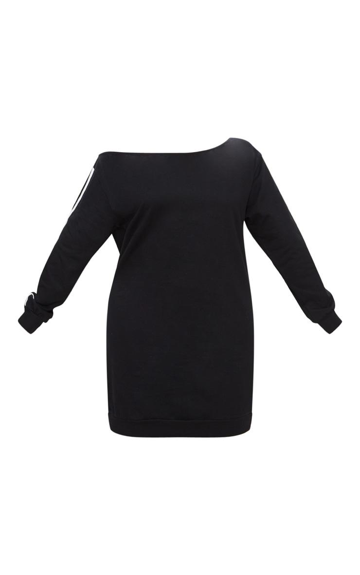 Plus Black Off The Shoulder Sweater Dress 3