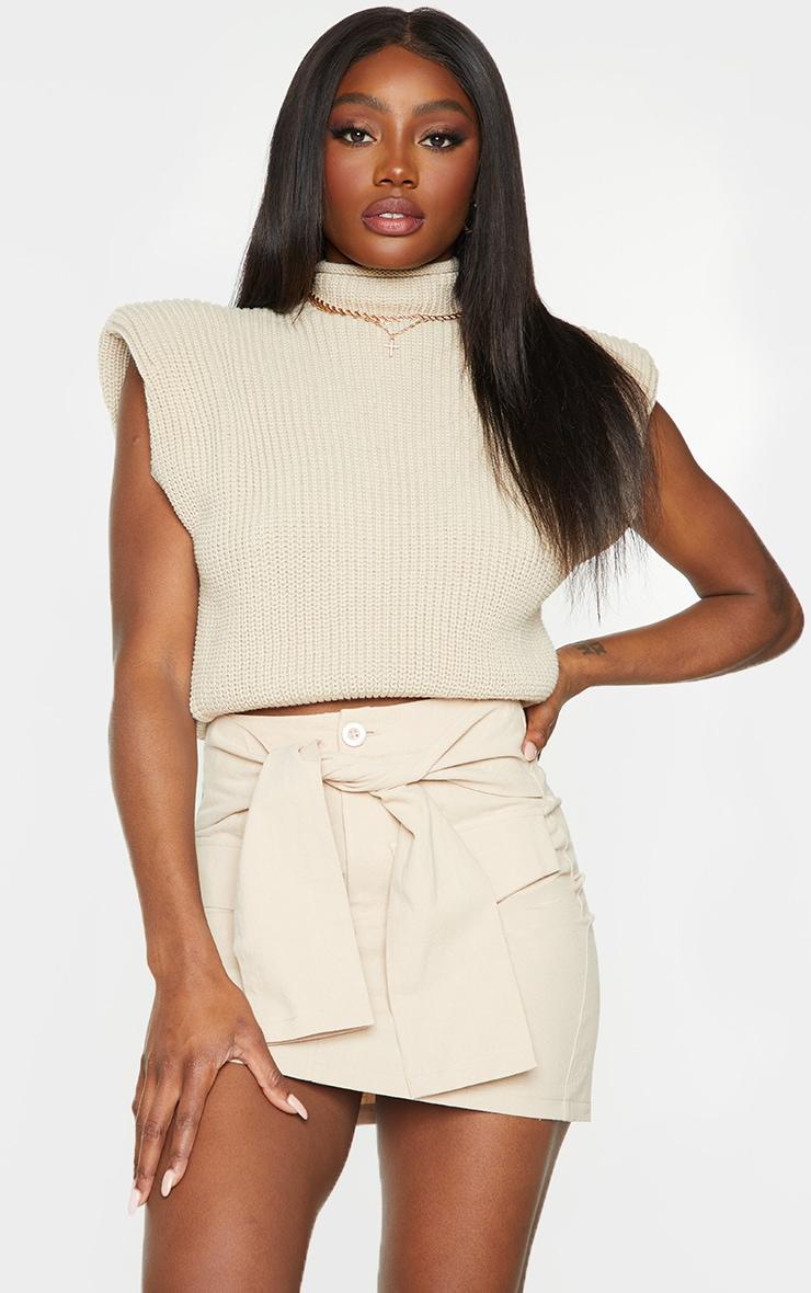 Stone Cargo Extreme Tie Mini Skirt 1