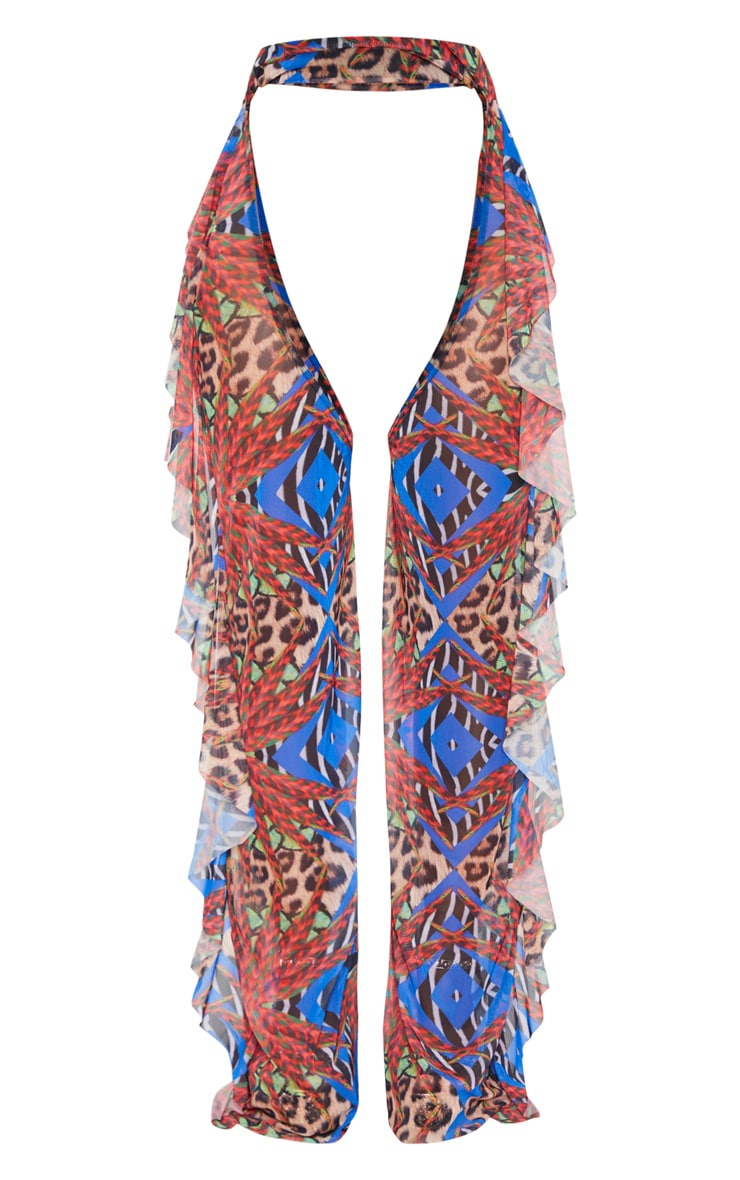 Multi Jungle Print Mesh Chaps 4