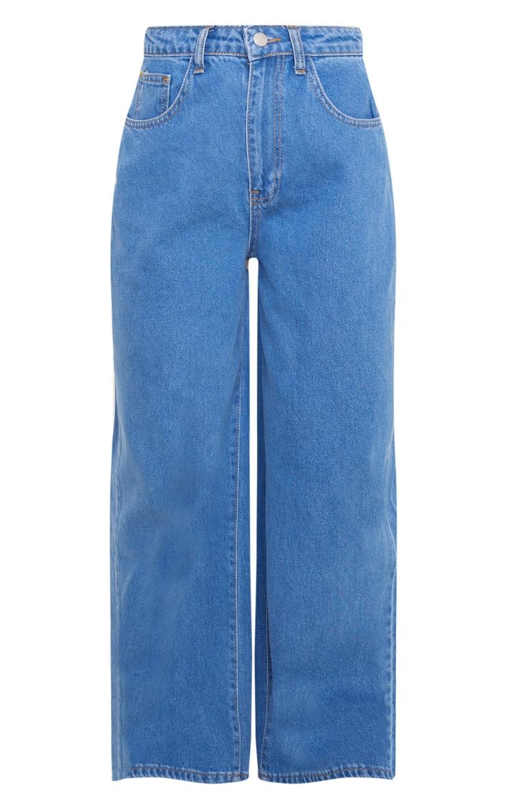 Petite Mid Wash Wide Leg Jeans 3