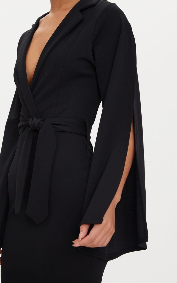 Black Split Sleeve Blazer Dress  5
