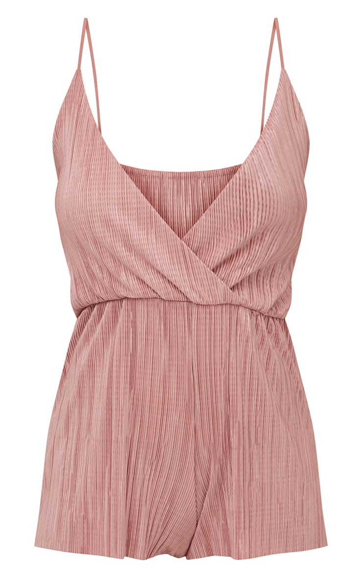 Rose Pleated Wrap Playsuit  3