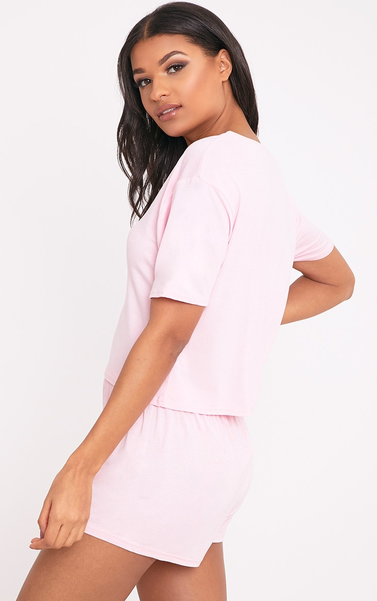 Basic Pale Pink Short Pj Set 2