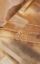 PRETTYLITTLETHING Gold Three Pack Dainty Chain Bracelets 2