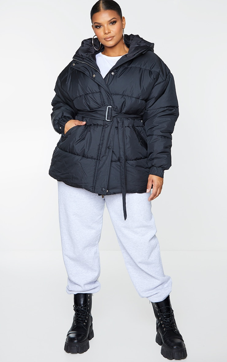 Plus Black Belted Puffer 3